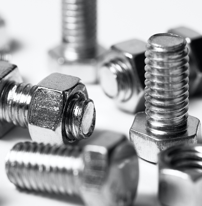 close up image of nuts and bolts