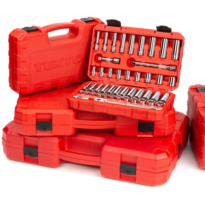 red Tekto tool box set